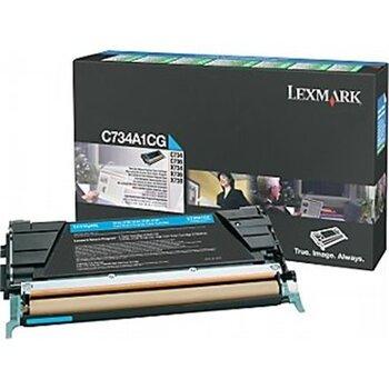 Lexmark - Toner Optra C73x/X73x Cyan 6K C734A1CG