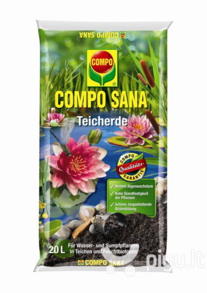 COMPO SANA Substratas vandens augalams, 20L kaina ir informacija | Gruntas, žemė, durpės, kompostas | pigu.lt