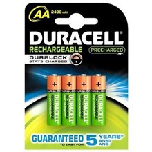 Duracell Rechargeable Accu Stay Charged 2400mAh HR6 AA (LR6), 4 шт. цена и информация | Батарейки | pigu.lt