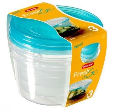 Curver maisto saugojimo indas Fresh&Go, 3 vnt kaina ir informacija | Maisto saugojimo, konservavimo indai | pigu.lt