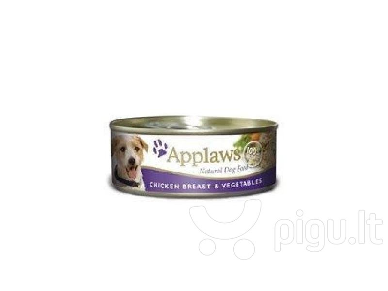 Konservai Applaws Dog Chicken Breast with Vegetables, 156 g kaina ir informacija | Konservai šunims | pigu.lt