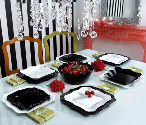 Luminarc AUTHENTIC BLAC&WHITE pietų servizas, 19 dalių