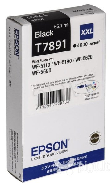 Epson C13T789140/65.1ml Black/ skirtas WF-5xxx