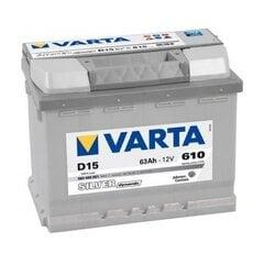 Akumuliatorius VARTA SILVER 63AH 610A D15 kaina ir informacija | Akumuliatorius VARTA SILVER 63AH 610A D15 | pigu.lt