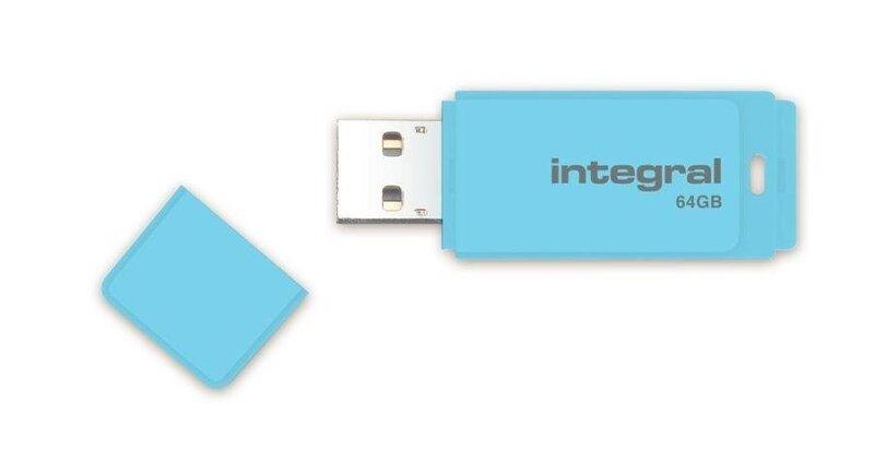 Atmintinė Integral Flash Drive Pastel, 64GB, USB 3.0, Mėlyna