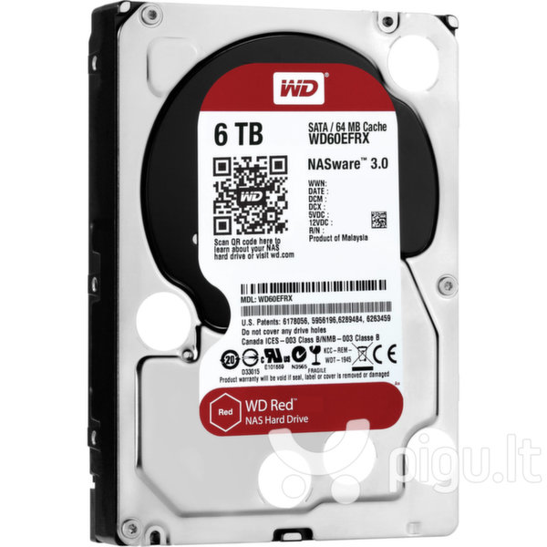 Western Digital Red 6TB IntelliPower SATA 3 64MB WD60EFRX