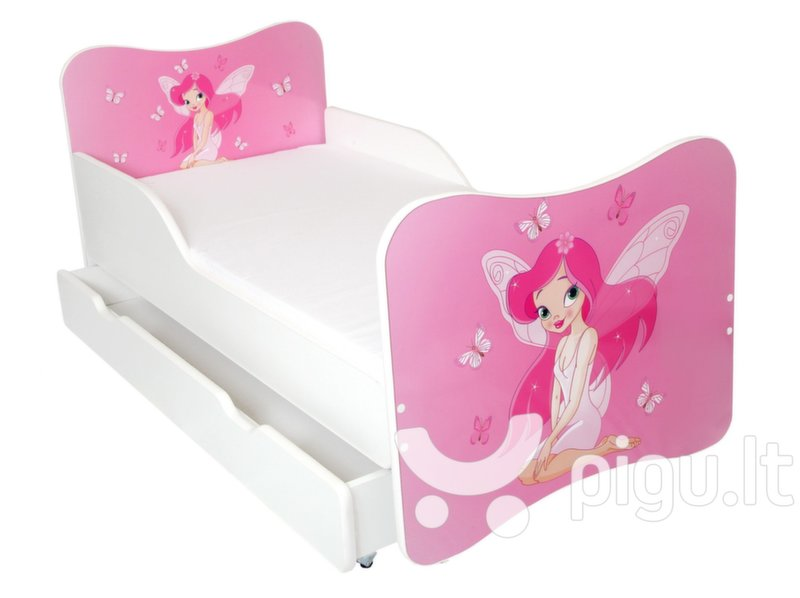 Lova su čiužiniu ir patalynės dėže Ami 13, 140x70cm kaina ir informacija | Vaiko kambario baldai | pigu.lt