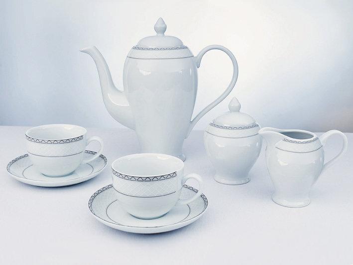 Porcelianinis kavos servizas, 27 dalių kaina ir informacija | Taurės, puodeliai, ąsočiai | pigu.lt