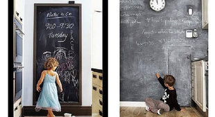 Priklijuojama piešimo lenta su kreidelėmis, ZB6 kaina ir informacija | Lavinamieji žaislai | pigu.lt
