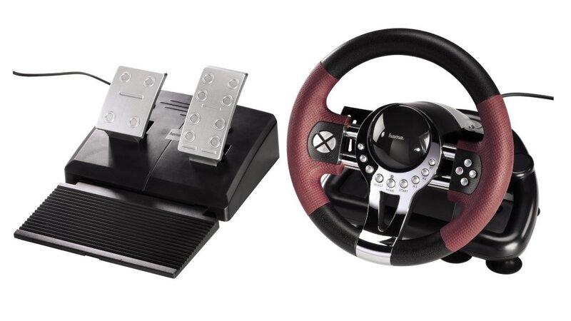 Žaidimų vairas HAMA THUNDER V5 kaina ir informacija | Žaidimų kompiuterių priedai | pigu.lt