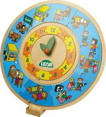 Dėlionė - laikrodis Lena kaina ir informacija | Žaislai kūdikiams | pigu.lt