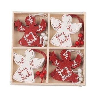 Eglutės žaisliukai Angeliukai 12 vnt. kaina ir informacija | Kalėdinės dekoracijos | pigu.lt