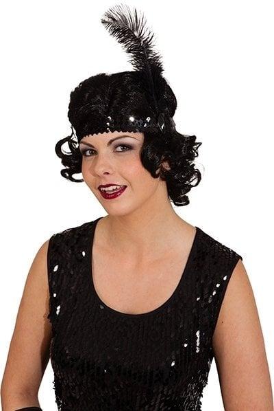 Retro galvos juosta, juoda kaina ir informacija | Karnavaliniai kostiumai | pigu.lt