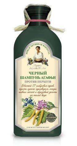 Juodas šampūnas nuo pleiskanų Recepty Babuški Agafji 350 ml kaina ir informacija | Šampūnai | pigu.lt