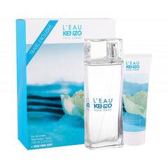 Rinkinys Kenzo L'eau par Kenzo: tualetinis vanduo EDT moterims 100 ml + kvapioji dušo želė moterims 75 ml