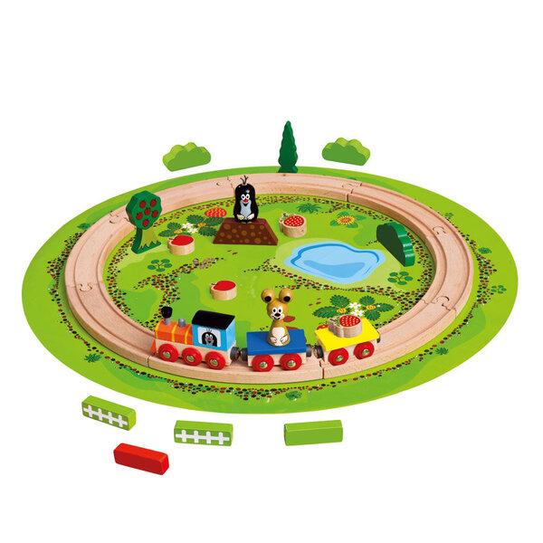 Medinis traukinio rinkinys Bino Kurmiukas kaina ir informacija | Žaislai berniukams | pigu.lt