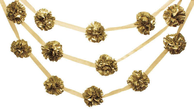 Girlianda auksinė 4,1 m kaina ir informacija | Dekoracijos, indai šventėms | pigu.lt