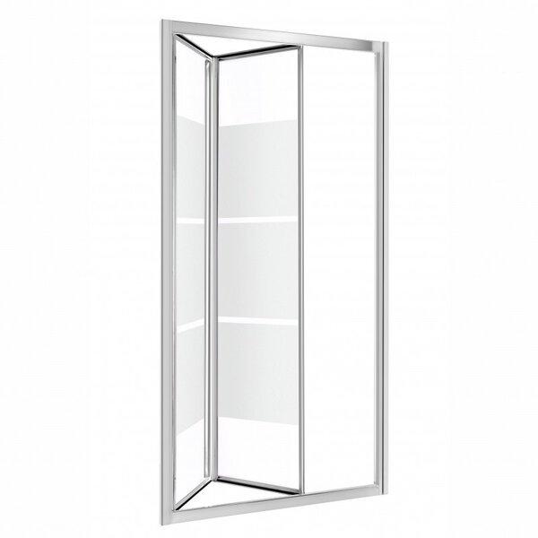 Dušo durys į nišą Kerra Harmony, Skaidrus su matinėmis juostomis