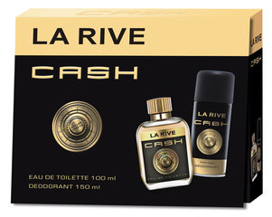 Rinkinys vyrams La Rive Cash: EDT vyrams 90 ml + dezodorantas 150 ml