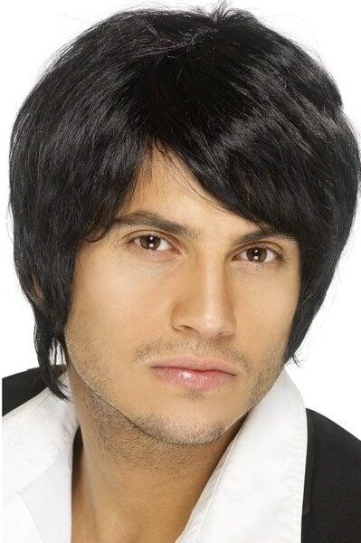 Juodų plaukų perukas kaina ir informacija | Karnavaliniai kostiumai | pigu.lt