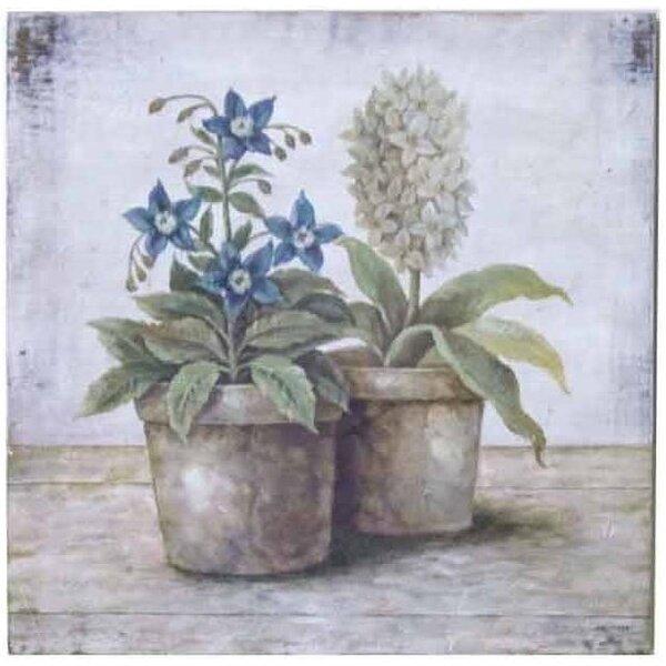 Tapytas paveikslas Melsvos gėlės3 kaina ir informacija | Reprodukcijos, paveikslai | pigu.lt