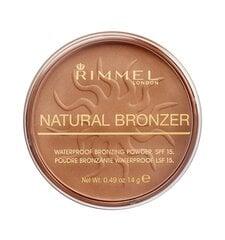 Bronzinanti pudra Rimmel London Natural Bronzer Waterproof SPF15 14 g, 021 Sun Light