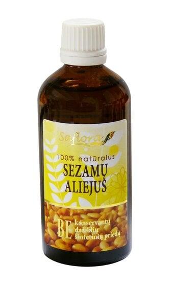Sezamų aliejus Saflora 100 ml kaina ir informacija | Eteriniai, kosmetiniai aliejai, hidrolatai | pigu.lt