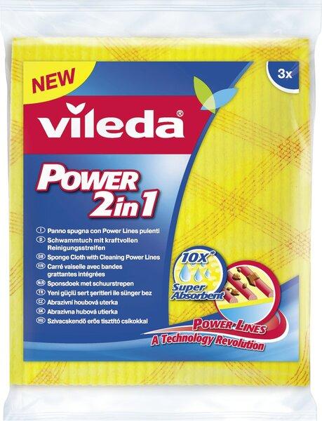 VILEDA Šluostė-kempinė Power kaina ir informacija | Valymo reikmenys ir priedai | pigu.lt