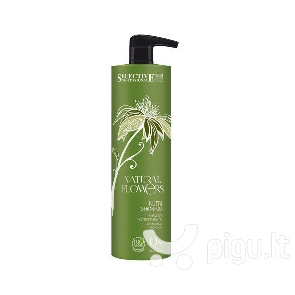 Ekologiškas atkuriamasis šampūnas Selective Professional Natural Flowers 1000 ml kaina ir informacija | Šampūnai | pigu.lt