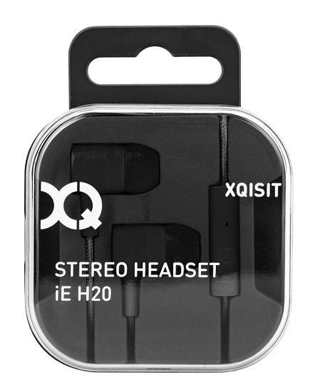 Įstatomos ausinės Xqisit iE H20, Juodos kaina ir informacija | Ausinės, mikrofonai | pigu.lt