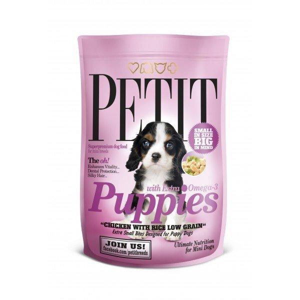 PETIT Puppies with Extra Omega-3 Low Grain 1,5 kg kaina ir informacija | Sausas maistas šunims | pigu.lt