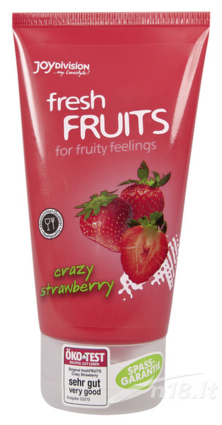 "Lubrikantas ""Fresh Fruits Strawberry"" Joy Division 150 ml. kaina ir informacija 