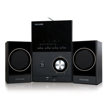Microlab M-223BT 2.1 Speakers/ Bluetooth 4.0 NFC/ 17W RMS (4Wx2+9W)/ Wooden/ FM Radio/ USB, SD Card Slots/ Plays MP3, Radio without PC