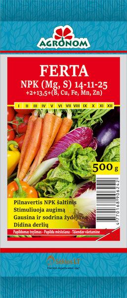 AGRONOM FERTA NPK 14-11-25+Me, 500 g kaina ir informacija | Birios trąšos | pigu.lt