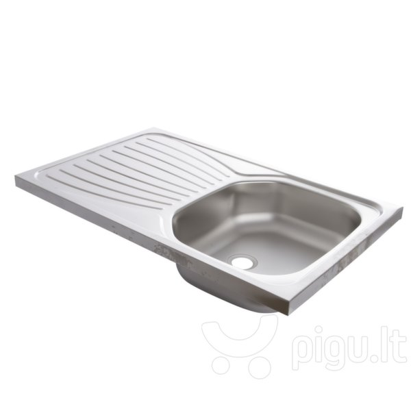 Virtuvės plautuvė Artenova E50X80 uždedama, Kairės pusės staliukas kaina ir informacija | Virtuvinės plautuvės | pigu.lt