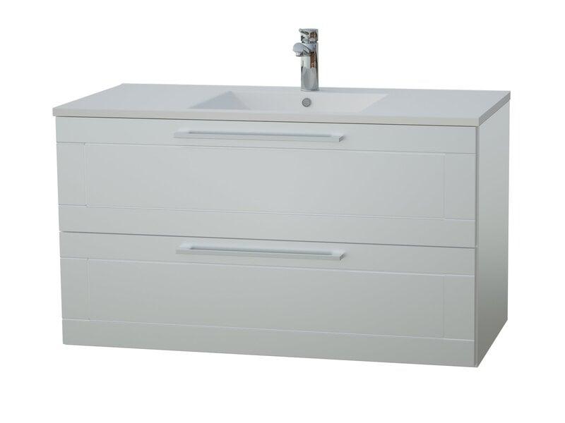 Apatinė vonios spintelė su praustuvu Serena Retro 91 cm kaina ir informacija | Vonios baldai | pigu.lt