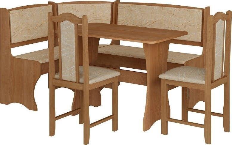 Kampinis valgomojo komplektas su kėdėmis kaina ir informacija | Valgomojo komplektai | pigu.lt