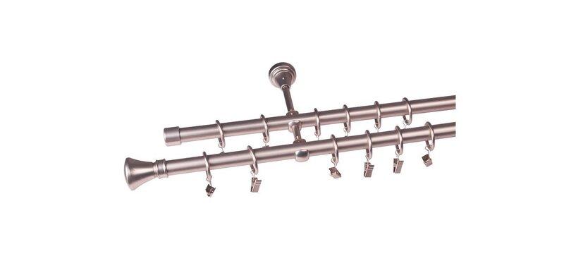 Dvigubas karnizas Jazz, 200 cm kaina ir informacija | Karnizai | pigu.lt