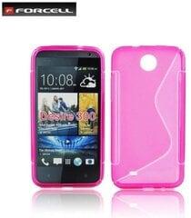 Apsauginis dėklas Forcell Back Case skirtas HTC Desire 300, Rožinis kaina ir informacija | Telefono dėklai | pigu.lt