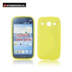 Apsauginis dėklas Forcell skirtas Samsung Galaxy Core Plus (G350), Geltona kaina ir informacija | Telefono dėklai | pigu.lt