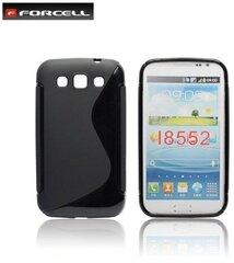 Apsauginis dėklas Forcell Back Case skirtas Samsung Galaxy Win (i8550), Juodas kaina ir informacija | Telefono dėklai | pigu.lt