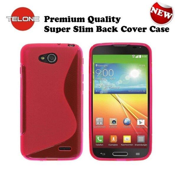 Apsauginis dėklas Telone skirtas LG D405 L90, Rausvas kaina ir informacija | Telefono dėklai | pigu.lt