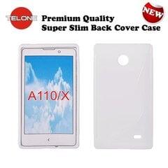Apsauginis dėklas Telone skirtas Nokia X/Dual Sim, Baltas kaina ir informacija | Telefono dėklai | pigu.lt