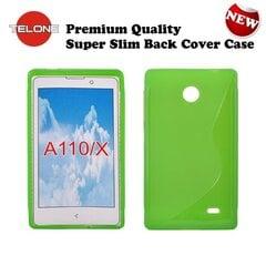 Apsauginis dėklas Telone skirtas Nokia X/Dual Sim, Žalias kaina ir informacija | Telefono dėklai | pigu.lt