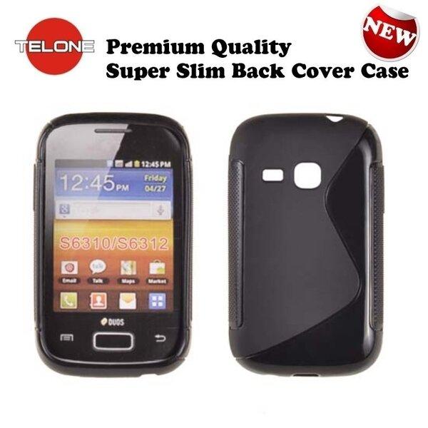 Apsauginis dėklas Telone skirtas Samsung Galaxy Young (S6310), Juodas kaina ir informacija | Telefono dėklai | pigu.lt