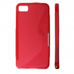 KLT Back Case S-Line Nokia 500 silicone/plastic case Red