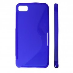 KLT Back Case S-Line Sony Xperia ION LT28h silicone/plastic case Blue
