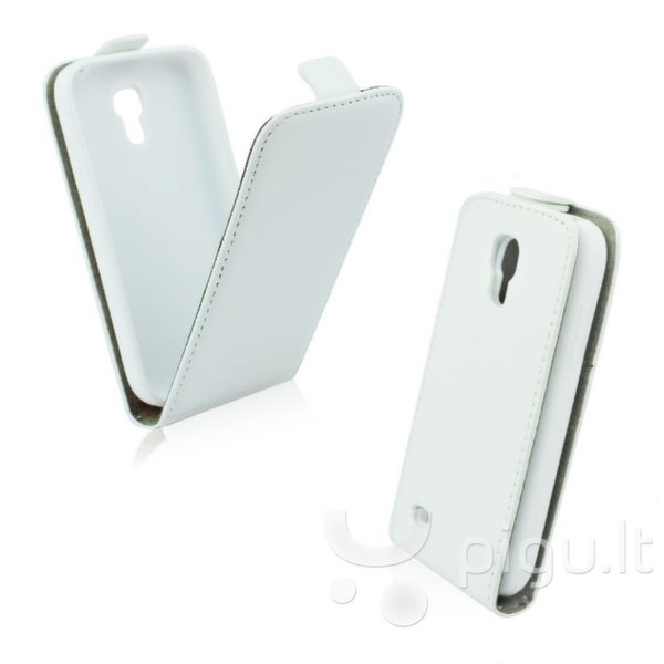 Atverčiamas dėklas Forcell Flexi Slim Flip skirtas Samsung Galaxy S5 (G900), Balta kaina ir informacija | Telefono dėklai | pigu.lt