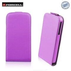 Atvečiamas dėklas Forcell Flexi Slim Flip skirtas Samsung Galaxy S5 (G900), Violetinis kaina ir informacija | Telefono dėklai | pigu.lt