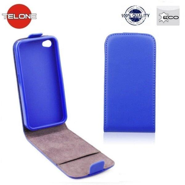 Atverčiamas dėklas Telone Flexi Slim Flip skirtas Nokia Lumia 830, Mėlyna kaina ir informacija | Telefono dėklai | pigu.lt